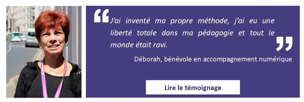 Bannière Témoignage Déborah page accueil