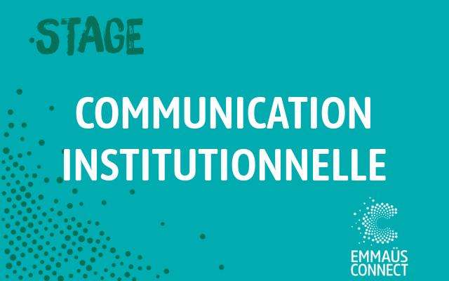 Stage Communication institutionnelle – Paris